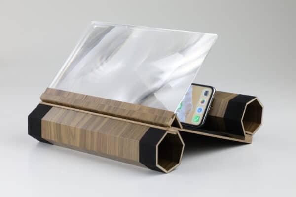 Linse für Smartphone Bildschirm gefaltet