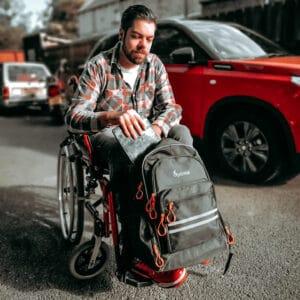 Rucksack Rollstuhl